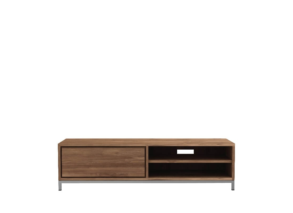 Ethnicraft - Teak Essential TV Cupboard - 1 Drawer - 142x47x38 cm