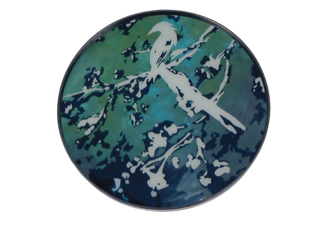 Notre Monde Birds of Paradise - Glass Tray - Round/Large