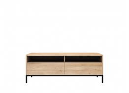 Ligna TV Cupboard with Black Metal Legs