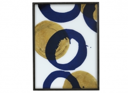 Gold and Blue Halos Tray