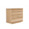 Ethnicraft - Oak Burger chest of drawers - 4 drawers 100/50/90